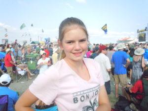 Brooke enjoying Jazz Fest in 2011.